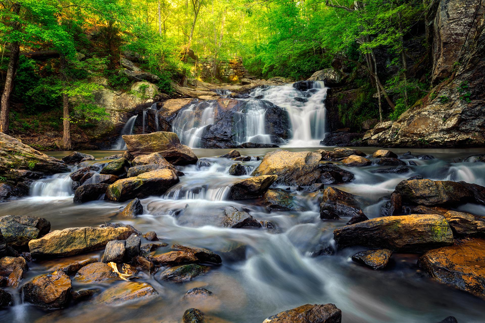 Cochran Mill Park Trail Waterfall 3