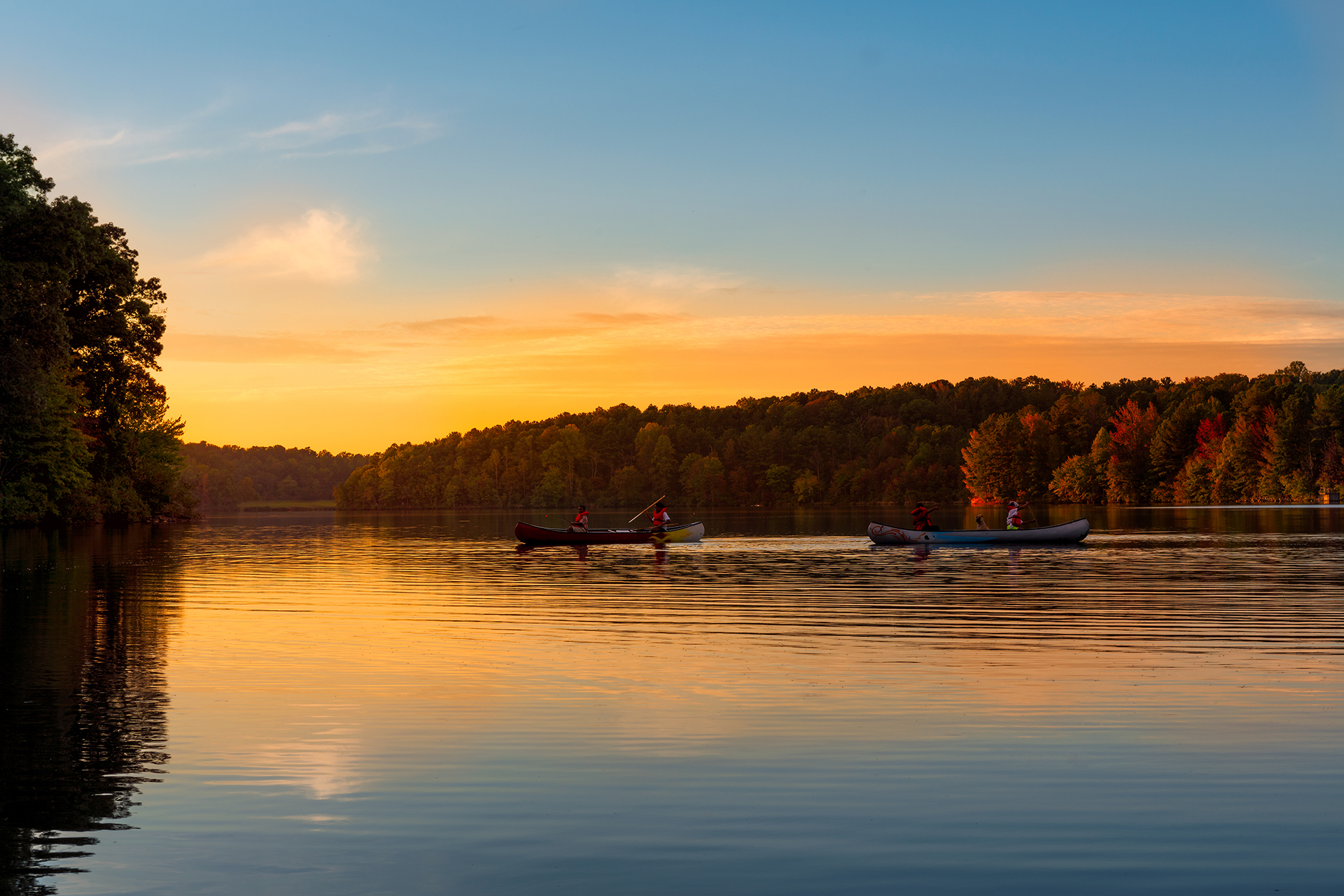 Sweetwater Creek State Park - Canoe Sunset