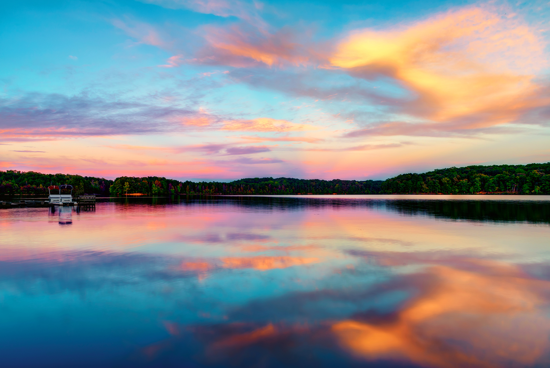 Sweetwater Creek State Park - Colored Reflections Redux