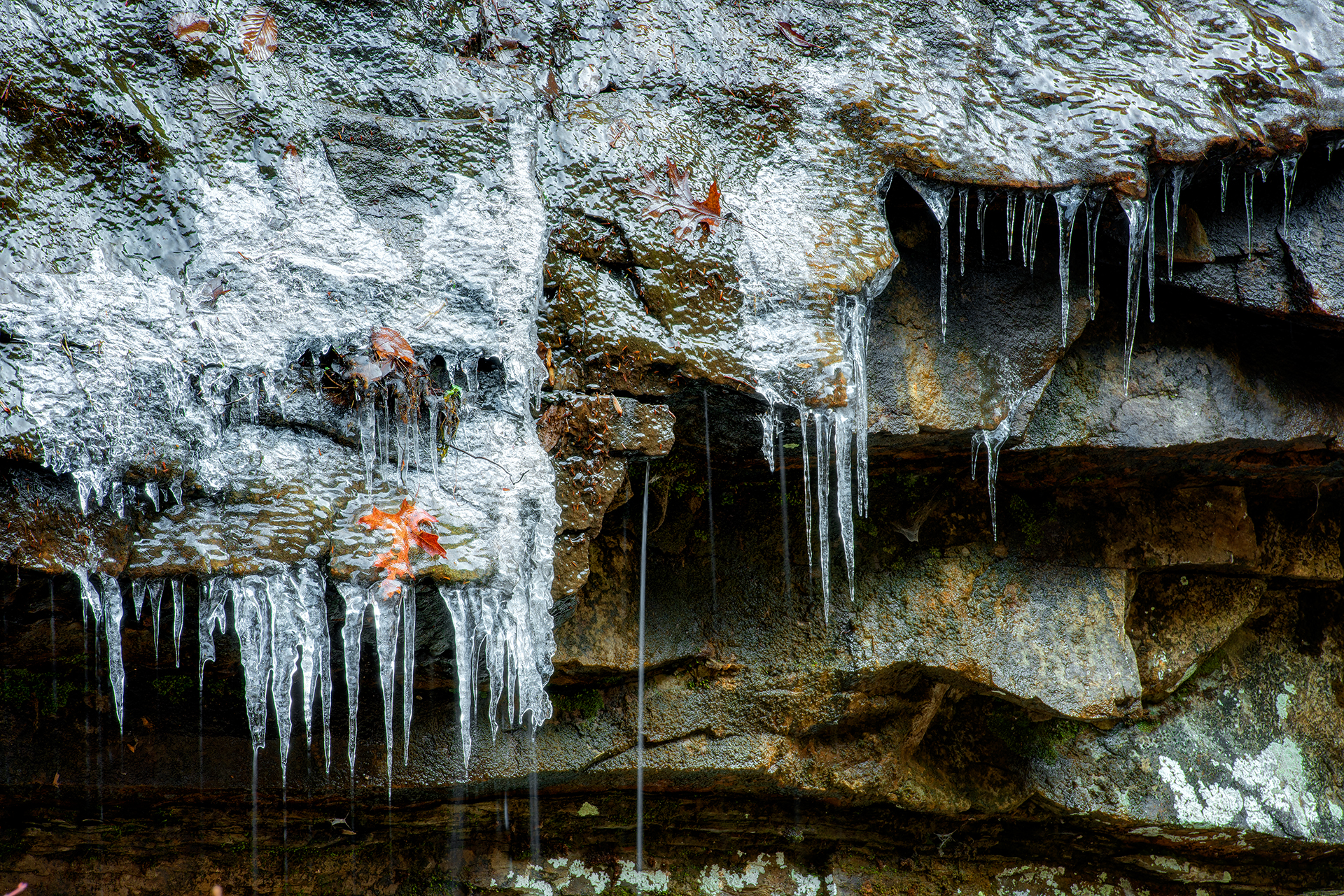 Cloudland Canyon Icicles