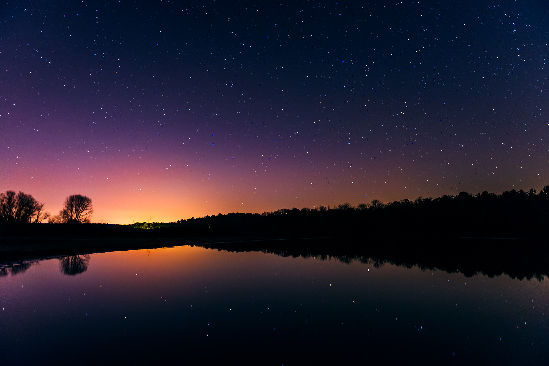 A Glow in the Night Sky - Snake Creek Park