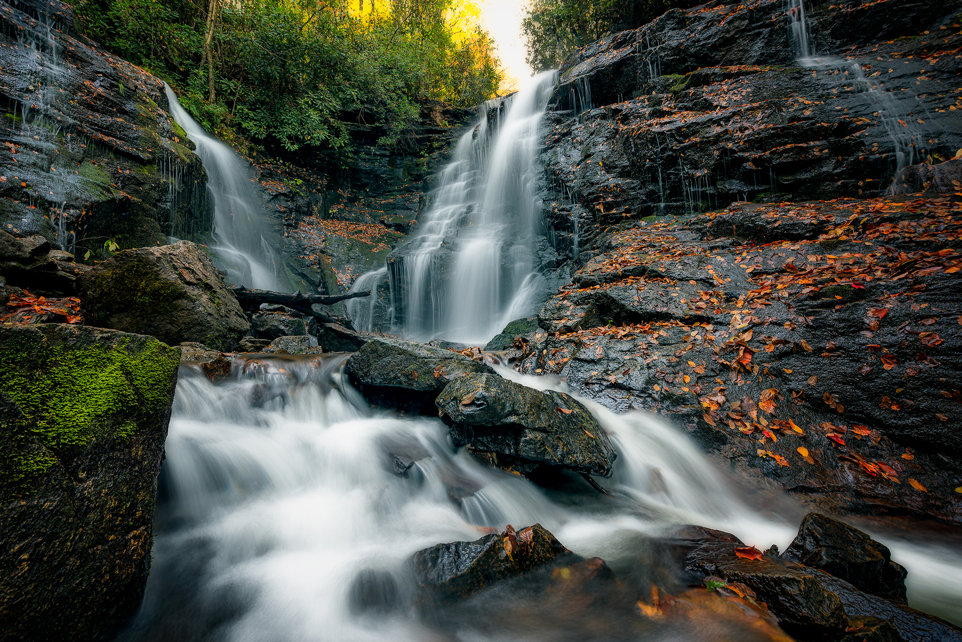 Autumn at Soco Falls Redux