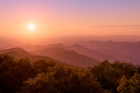 Brasstown Bald Sun Colors