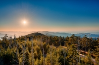 Clingman's Dome Early Sunset