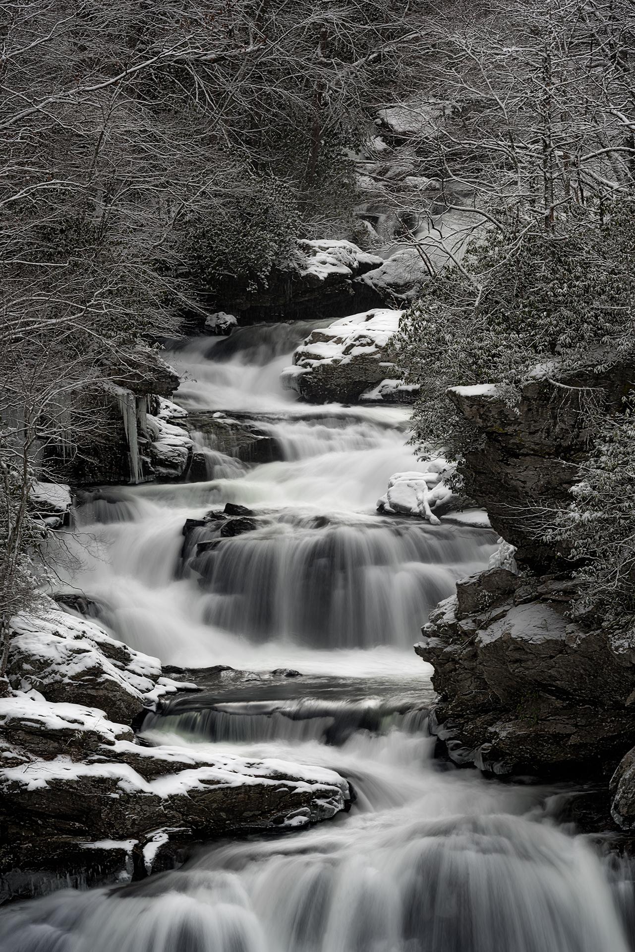 Cullasaja Snow Falls