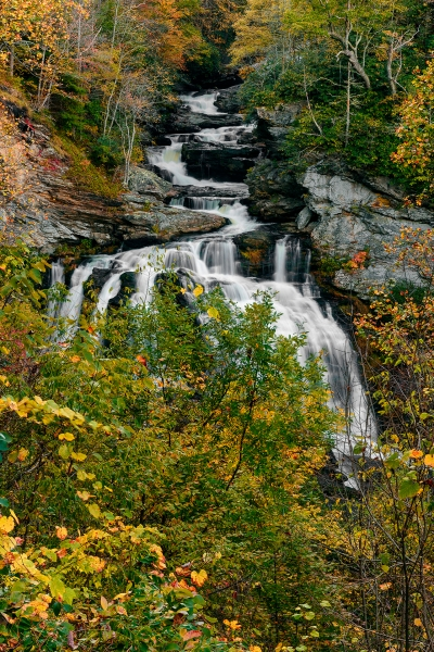Cullusaja Falls Autumn Veritcal