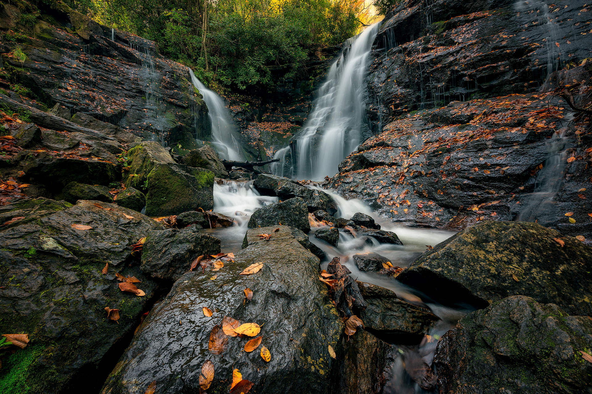 Fall Comes to Soco Falls