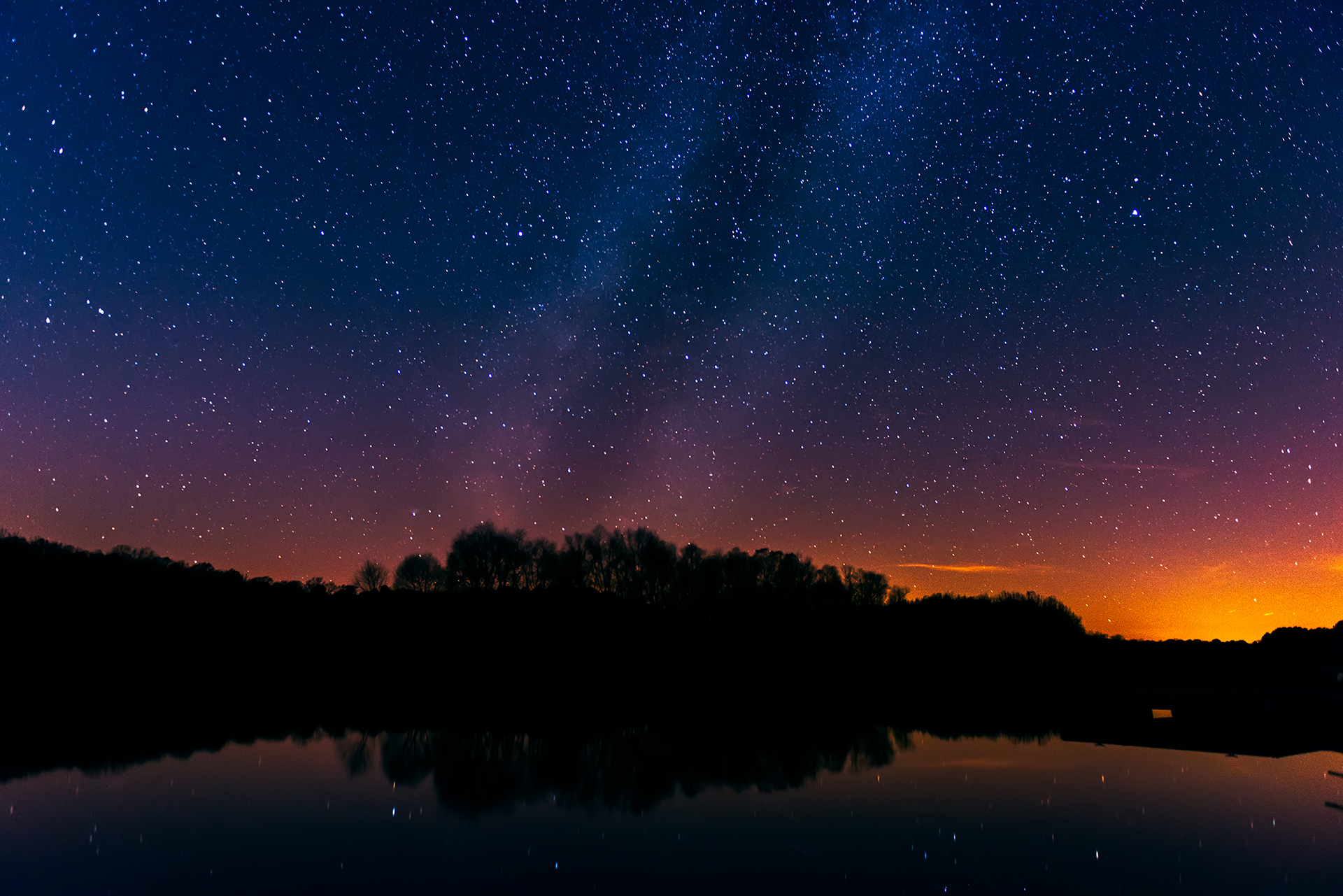 Fire in the Milky Way - Snake Creek Park
