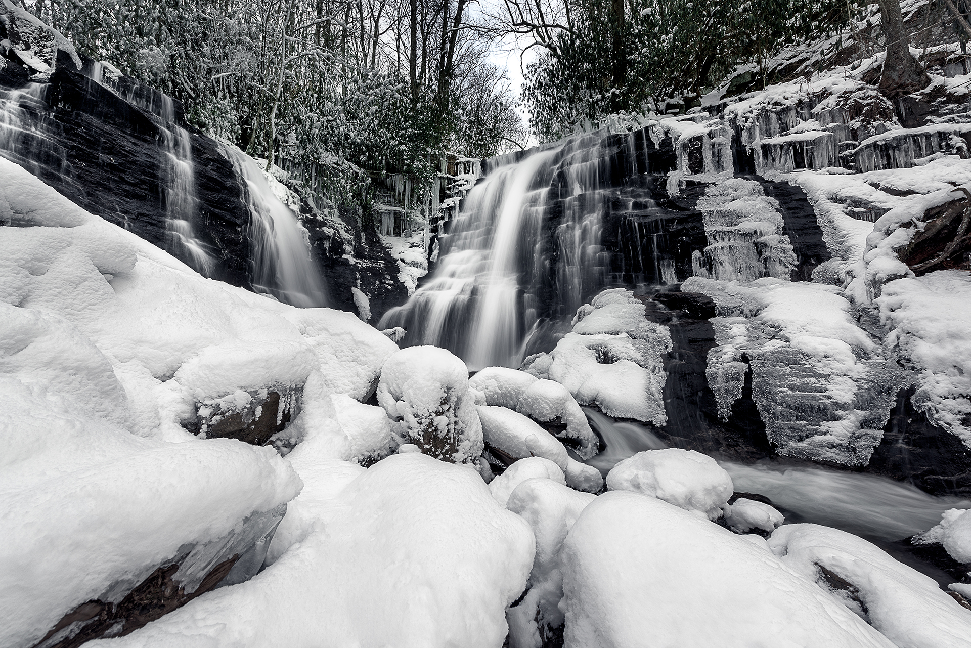 Soco Falls Winter