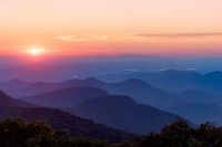 The Sun Touched the Brasstown Bald